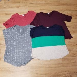Plus Size V-Neck T-Shirt Lot / Bundle All Size 3X